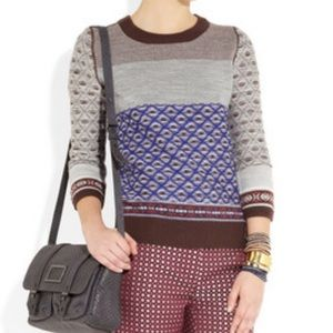 J Crew Inside-out intarsia sweater
